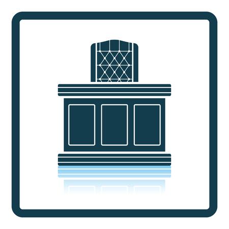 tribunal: Judge table icon. Shadow reflection design. Vector illustration.