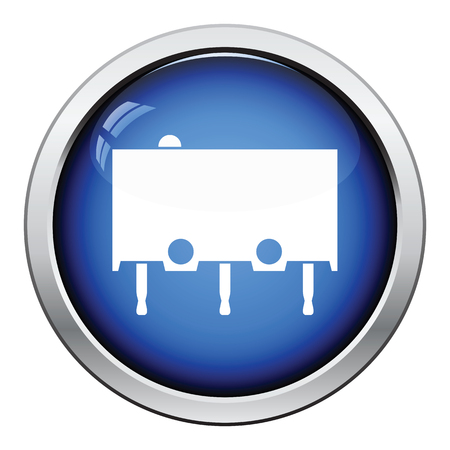 at tact: Micro button icon icon. Glossy button design. Vector illustration.