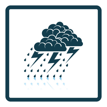 reflection: Thunderstorm icon. Shadow reflection design. Vector illustration. Illustration