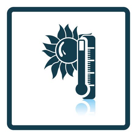 summer heat: Summer heat icon. Shadow reflection design. Vector illustration.
