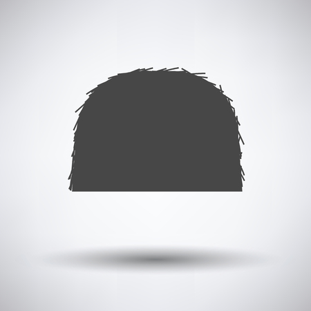 huddle: Hay stack icon on gray background with round shadow. Vector illustration.