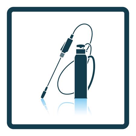 crop sprayer: Garden sprayer icon. Shadow reflection design. Vector illustration.