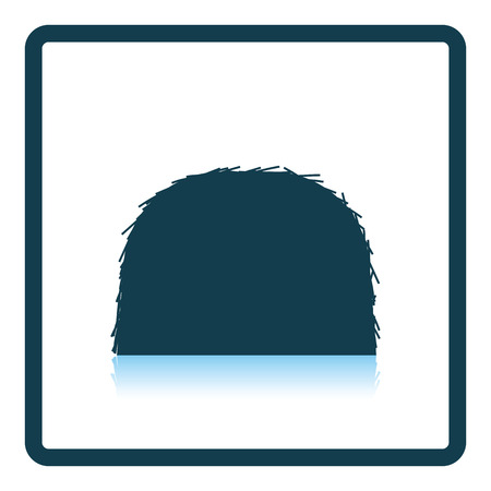 huddle: Hay stack icon. Shadow reflection design. Vector illustration. Illustration