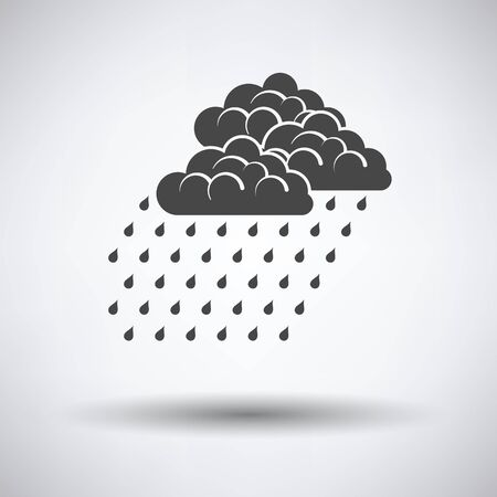 rainfall: Rainfall icon on gray background with round shadow. Vector illustration.