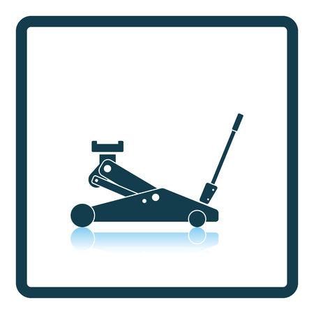 lifting jack: Hydraulic jack icon. Shadow reflection design. Vector illustration.