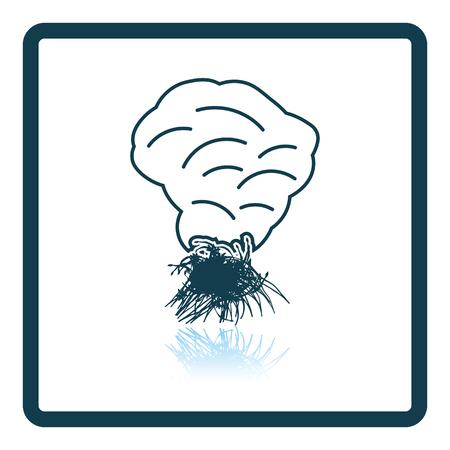 vegetable gardening: Sesonal grass burning icon. Shadow reflection design. Vector illustration.