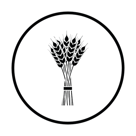 stalk: Wheat icon. Thin circle design. Vector illustration. Illustration