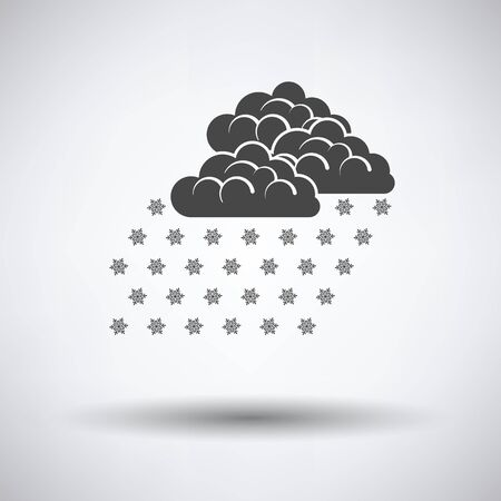 snowfall: Snowfall icon on gray background with round shadow. Vector illustration.