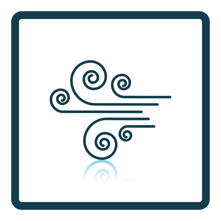 reflection: Wind icon. Shadow reflection design. Vector illustration.