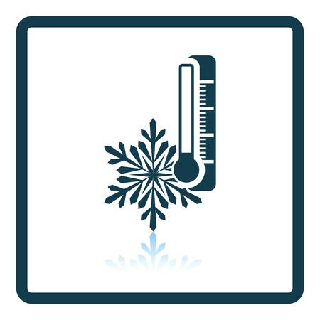 snow drift: Winter cold icon. Shadow reflection design. Vector illustration.