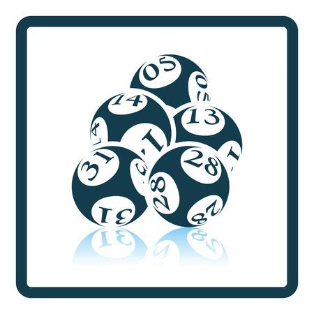 lotto: Lotto balls icon. Shadow reflection design. Vector illustration.