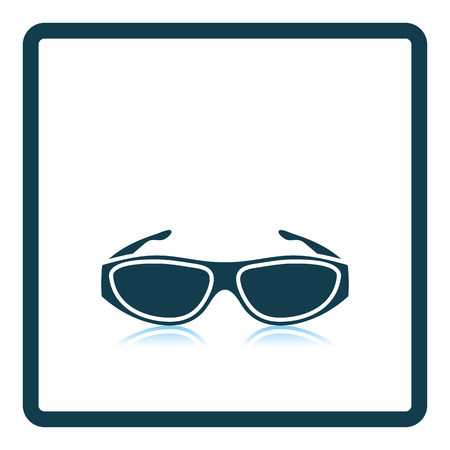 bifocals: Poker sunglasses icon. Shadow reflection design. Vector illustration. Illustration