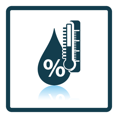 reflection: Humidity icon. Shadow reflection design. Vector illustration. Illustration