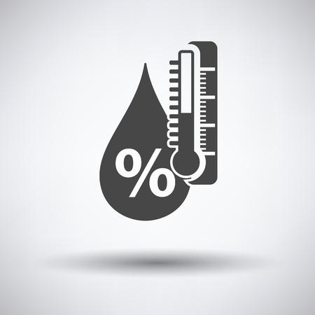 Luftfeuchtigkeit Symbol auf grauem Hintergrund mit runden Schatten. Vektor-Illustration. Vektorgrafik