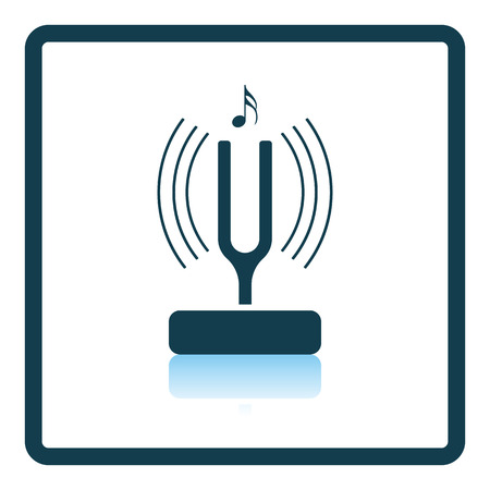 Tuning fork icon. Shadow reflection design. Vector illustration.