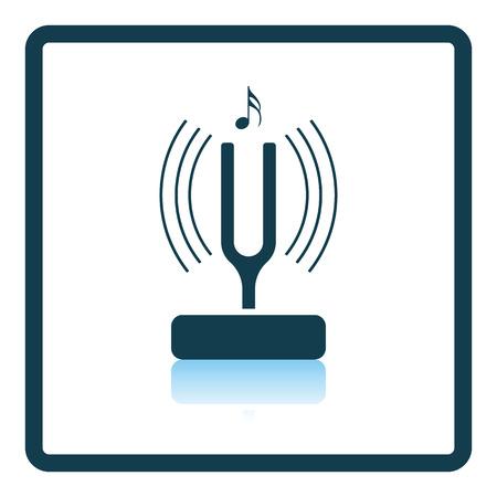 tuning: Tuning fork icon. Shadow reflection design. Vector illustration. Illustration
