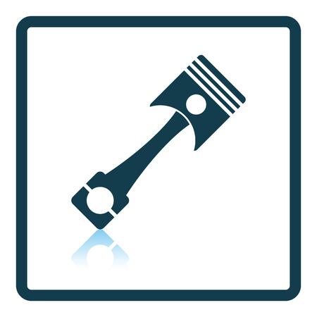 fuel rod: Car motor piston icon. Shadow reflection design. Vector illustration. Illustration