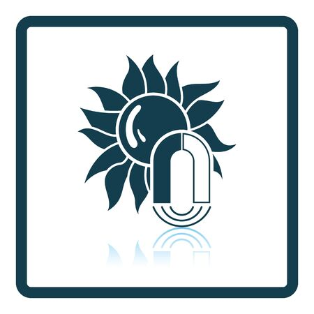 magnetic: Magnetic storm icon. Shadow reflection design. Vector illustration.