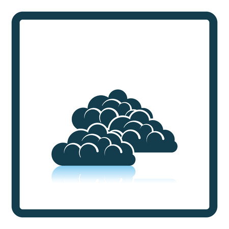 reflection: Cloudy icon. Shadow reflection design. Vector illustration.