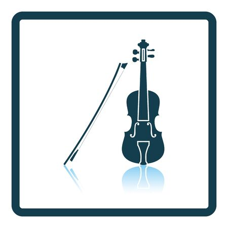 winds: Violin icon. Shadow reflection design. Vector illustration. Illustration