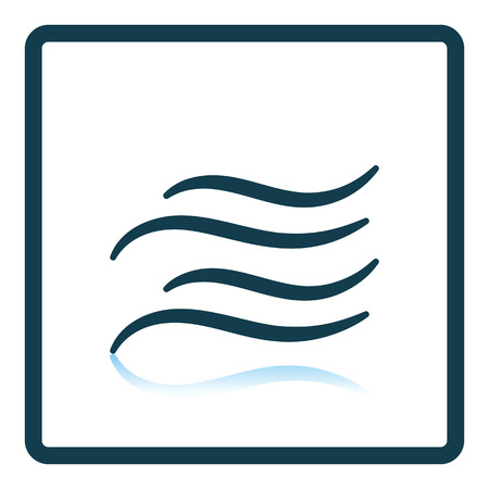 water reflection: Water wave icon. Shadow reflection design. Vector illustration. Illustration