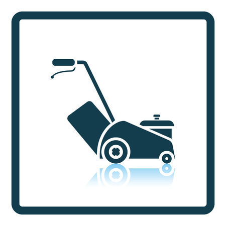 Lawn mower icon. Shadow reflection design. Vector illustration.