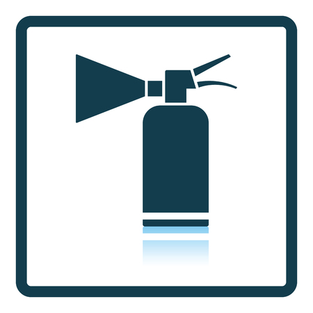 inflammable: Extinguisher icon. Shadow reflection design. Vector illustration.