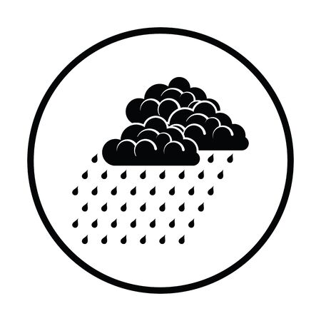 rainfall: Rainfall icon. Thin circle design. Vector illustration. Illustration