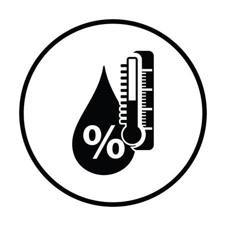 icona di umidità. disegno cerchio sottile. Illustrazione vettoriale. Vettoriali