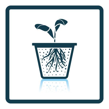 seedling: Seedling icon. Shadow reflection design. Vector illustration.