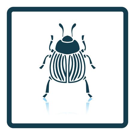Colorado beetle icon. Shadow reflection design. Vector illustration.