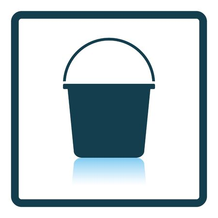 reflection: Bucket icon. Shadow reflection design. Vector illustration.