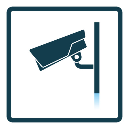 monitored area: Security camera icon. Shadow reflection design. Vector illustration. Illustration