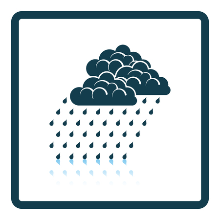 rainfall: Rainfall icon. Shadow reflection design. Vector illustration.
