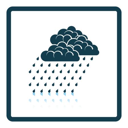 humid: Rainfall icon. Shadow reflection design. Vector illustration.