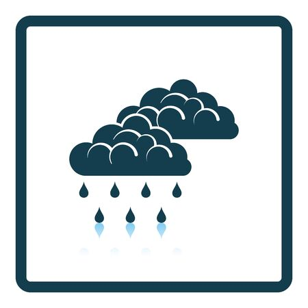 Rain icon. Shadow reflection design. Vector illustration. Illustration