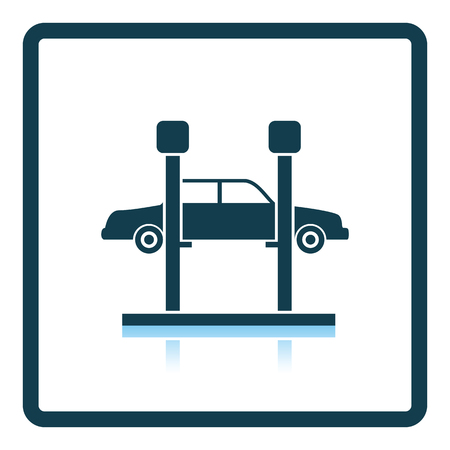 car lift: Car lift icon. Shadow reflection design. Vector illustration.