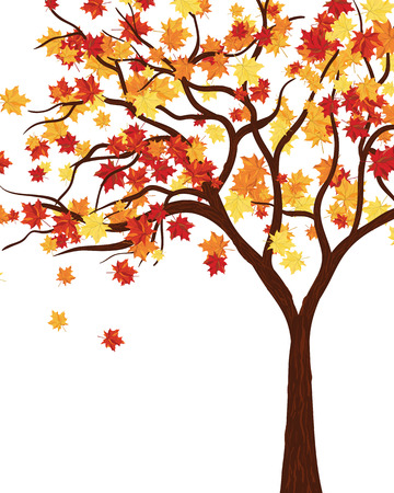 Autumn copy-space frame with maple leaves Illustration