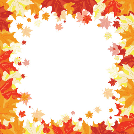 maples: Autumn copy-space frame with maple leaves Illustration