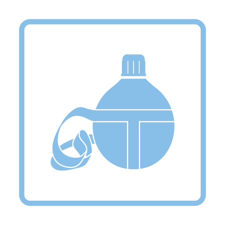 touristic: Touristic flask  icon. Blue frame design. Vector illustration. Illustration