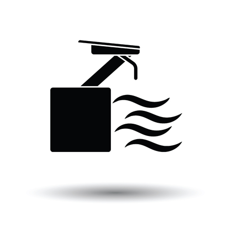 diving platform: Diving stand icon. White background with shadow design. Vector illustration. Illustration