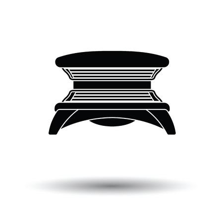 solarium: Solarium icon. White background with shadow design. Vector illustration.