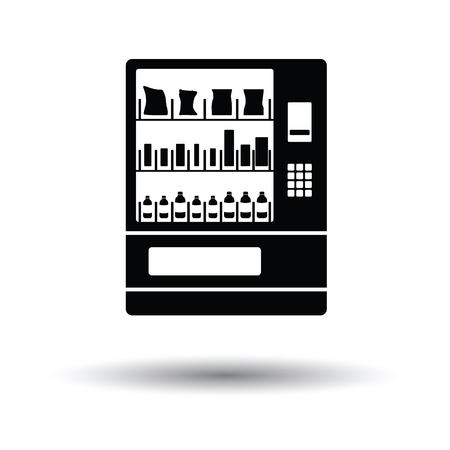 canned drink: Food selling machine icon. White background with shadow design. Vector illustration.