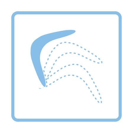 wooden boomerang: Boomerang  icon. Blue frame design. Vector illustration. Illustration