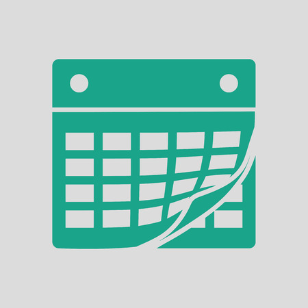 intentions: Calendar icon. Gray background with green. Vector illustration.