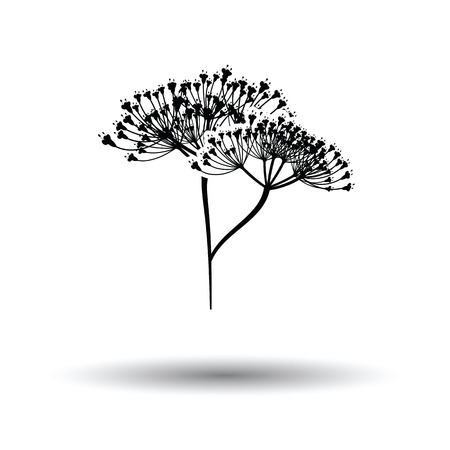 dill: Dill  icon. White background with shadow design. Vector illustration. Illustration