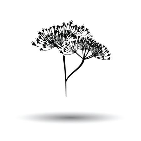 Dill icoon. Witte achtergrond met schaduw design. Vector illustratie.