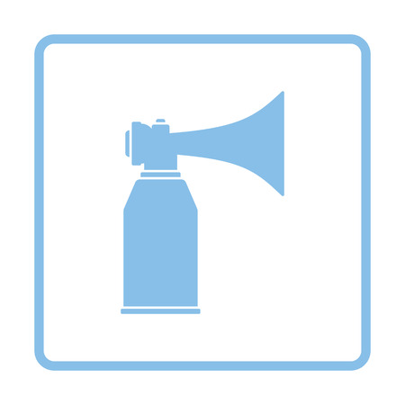 aerosol: Football fans air horn aerosol icon. Blue frame design. Vector illustration. Illustration