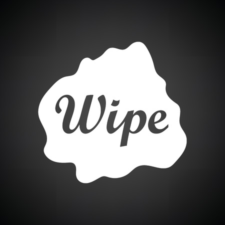 wipe: Wipe cloth icon. Black background with white. Vector illustration.