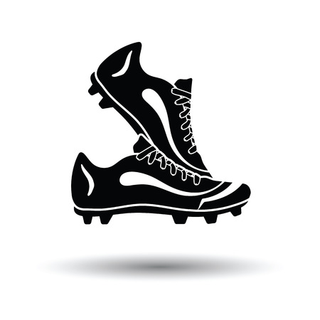 soccer boots: Pair soccer of boots  icon. White background with shadow design. Vector illustration. Illustration